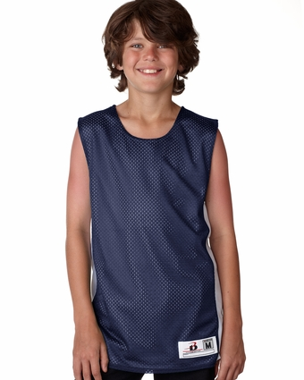 Badger Sport Youth Tank Top: 100% Polyester Mesh/Dazzle Color Block Challenger Reversible (2559)
