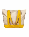 BAGedge Tote Bag: 100% Cotton Canvas Boat (BE004)
