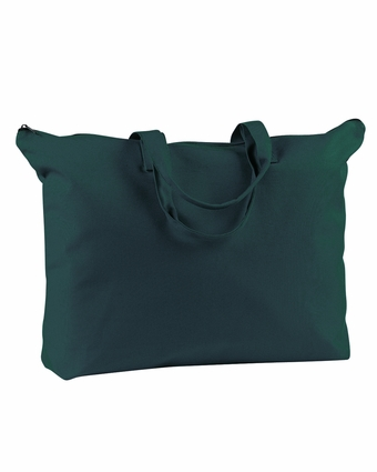 BAGedge Tote Bag: 100% Cotton Canvas Zippered Book (BE009)