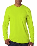 Bayside Men's T-Shirt: Long-Sleeve Pocket (1730)
