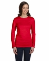 Bella Women's T-Shirt: 100% Cotton Long-Sleeve Crew Neck Jersey (B6500)