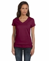 Bella Women's T-Shirt: 100% Cotton Short-Sleeve V-Neck (B6005)