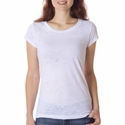Bella Women's T-Shirt: 3.1 oz. Bernadette Burnout Crew Neck (8601)