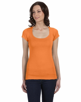 Bella Women's T-Shirt: 4 oz. Cotton/Spandex Sheer Rib Scoop Neck (B8703)