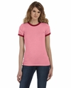 Bella Women's T-Shirt: Heather Short-Sleeve Jersey Ringer (B6050)