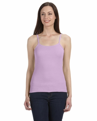 Bella Women's Tank Top: 100% Cotton1 X 1 Rib Spaghetti Strap (1011)