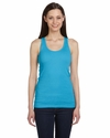 Bella Women's Tank Top: 100% Cotton2 X 1 Rib Longer Length Racer Back (4070)
