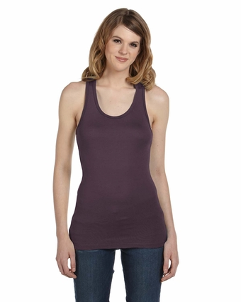 Bella Women's Tank Top: Meredith Sheer Rib Racer-Back (8770)