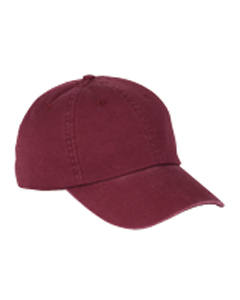Big Accessories Cap: 100% Cotton 6-Panel Washed Twill Low-Profile (BX005)