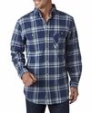 Men's Yarn-Dyed Flannel Shirt: (BP7001)