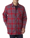 Men's Flannel Shirt Jacket with Quilt Lining: (BP7002)