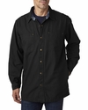 Men's Canvas Shirt Jacket with Flannel Lining: (BP7006)