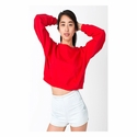California Fleece Cropped Sweatshirt: (5336)