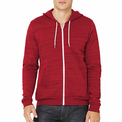 Canvas Men's Sweatshirt: Poly-Cotton Full Zip Hoodie (3739)