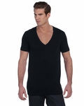 Canvas Men's T-Shirt: 100% Cotton Deep V-Neck (3105)