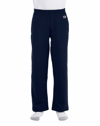 Champion Youth Sweatpants: 9 oz. 50/50 Open Bottom (D243)