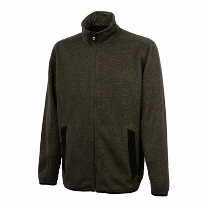 Charles River Men's Fleece Jacket: Heathered Fleece Pocketed Quarter-Zip (9493)