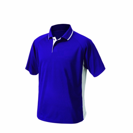 Mens Color Blocked Wicking Polo