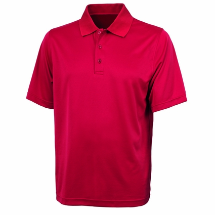 Mens Smooth Knit Solid Wicking Polo