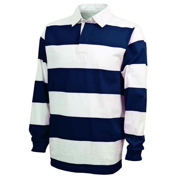 Charles river rugby shirt for men style 9278 screen print for Long sleeve striped rugby shirt
