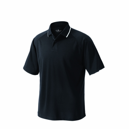 Charles River Men's Tall Polo Shirt: 100% Polyester Pique 2-Button with Tipped Collar (3811T)