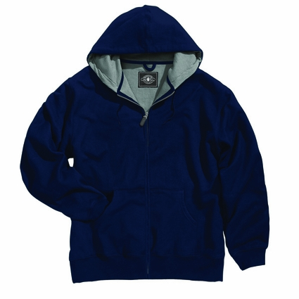Charles River Men's Tall Sweatshirt: Waffle Thermal Lined Pocketed Full-Zip (9542T)