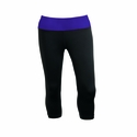 Charles River Women's Capri Legging: Poly Blend Jersey Color Block with Wicking (5466)