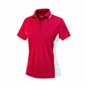 Womens Color Blocked Wicking Polo