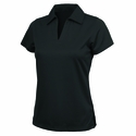 Womens Smooth Knit Solid Wicking Polo