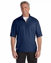 Men's climalite® Colorblock Half-Zip Wind Shirt: (A167)