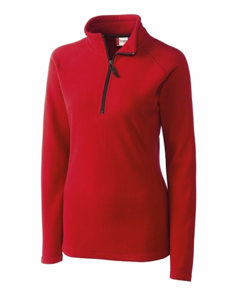 Clique Women's Jacket: 100% Polyester Microfleece Half Zip Long Sleeve (LQO00018)