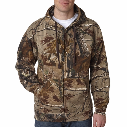 Code V Men's Sweatshirt: RealTree Patterned Full Zip Hoodie (3989)