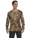 Code V Men's T-Shirt: 100% Cotton Officially Licensed Realtree Camouflage Long-Sleeve (3981)