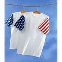 Code V Men's T-Shirt: 100% Cotton Stars & Stripes (3976)