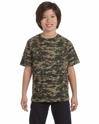 Code V Youth T-Shirt: 100% Cotton Camouflage (2206)