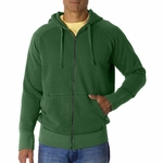 10 oz. Garment-Dyed Full-Zip Hooded Sweatshirt: (C1564)