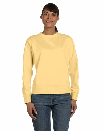 Ladies' 10 oz. Garment-Dyed Wide-Band Fleece Crew: (C1596)