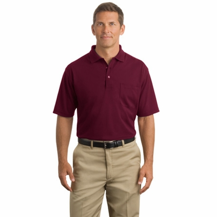 CornerStone Men's Polo Shirt: Industrial Pocket Pique (CS402P)