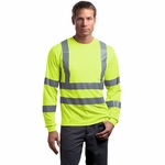 CornerStone Men's T-Shirt: ANSI Class 3 Long Sleeve Snag-Resistant Reflective (CS409)