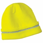 CornerStone Safety Beanie: Knit Cap with Reflective Stripe (CS800)