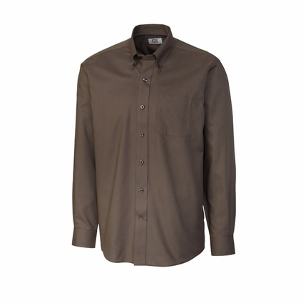 Cutter & Buck Big & Tall Men's Dobby Shirt: Epic Easy Care Nailshead Long Sleeve (BCW01711)