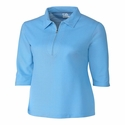 Cutter & Buck Ladies Blaine Oxford 3/4 Sleeve Zip Polo LCK08643