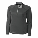 Cutter & Buck Ladies CB DryTec L/S Evolve Half Zip LCK02592