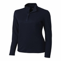 Cutter & Buck Ladies L/S Belfair Pima Half Zip LCK02587