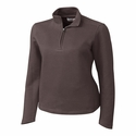 Cutter & Buck Ladies L/S Decatur Pima Half Zip LCK02585