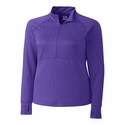 Cutter & Buck Ladies L/S Hamden Jacquard 1/2 Zip LCK08644