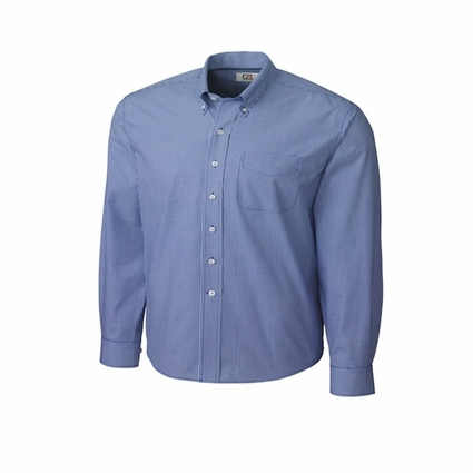 Cutter & Buck Men's Gingham Shirt: Epic Easy Care Long Sleeve (MCW01878)