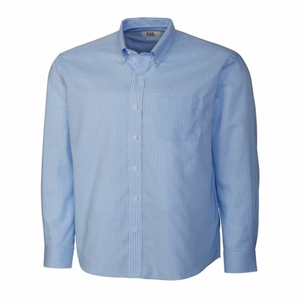 Cutter & Buck Men's Woven Shirt: Epic Easy Care Tattersall Long Sleeve (MCW01891)