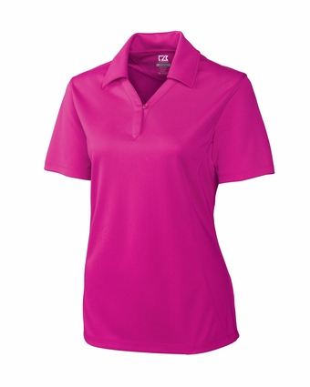 Cutter & Buck Plus Size Women's Polo Shirt: 100% Polyester DryTec Genre (WCK02289)