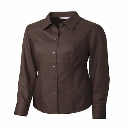Cutter & Buck Women's Nailshead Shirt: Epic Easy Care Long Sleeve (LCW04124)